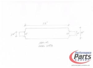 JASMA, Universal N1 Muffler Designs - Model 30894