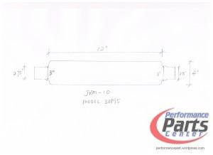 JASMA, Universal N1 Muffler Designs - Model 30895