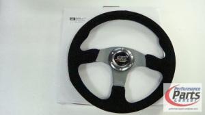 "MUGEN, Steering 13.5"" Suede Leather"