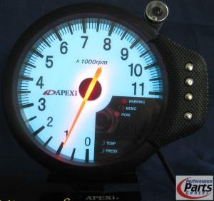 """APEXI, Meter RPM DECS 5"""" - White Face"""